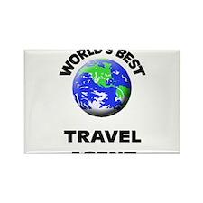 World's Best Travel Agent Rectangle Magnet