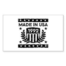 Made In USA 1992 Decal