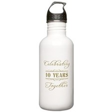 Celebrating 10 Years Together Water Bottle