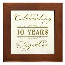 Celebrating 10 Years Together Framed Tile