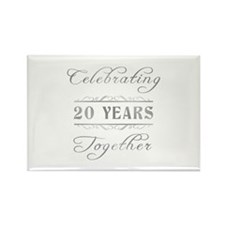 Celebrating 20 Years Together Rectangle Magnet (10