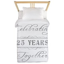 Celebrating 25 Years Together Twin Duvet