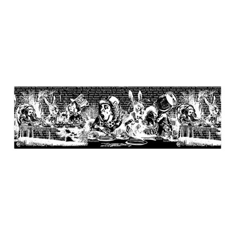 Vintage Alice Border Black 20x6 Wall Decal