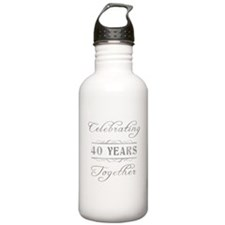 Celebrating 40 Years Together Water Bottle