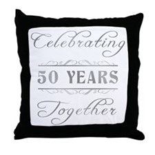 Celebrating 50 Years Together Throw Pillow