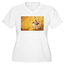 Watercolor Wren Bird Plus Size T-Shirt