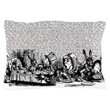 Vintage Alice Text And Border Pillow Case