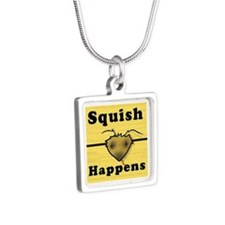 Squish Happens Silver Square Necklace