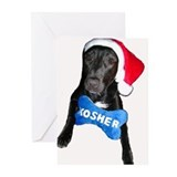 Kosher Santa Dog Christmukkah Cards 6 in pack