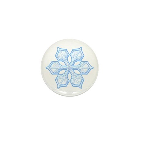 Flurry Snowflake XIX Mini Button