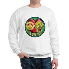 Peace, Love and Zombies Sweatshirt