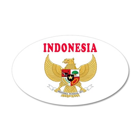 Indonesia Coat Of Arms Designs 35x21 Oval Wall Dec
