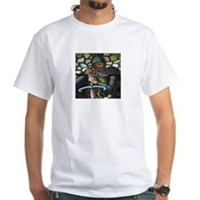 wm wallace stained glass embroidery T-Shirt