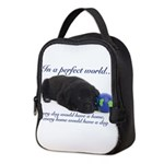 In A Perfect World (Lab) Neoprene Lunch Bag