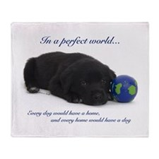 In A Perfect World (Lab) Throw Blanket