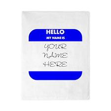 Custom Blue Name Tag Twin Duvet