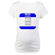 Custom Blue Name Tag Shirt
