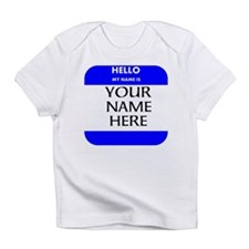 Custom Blue Name Tag Infant T-Shirt