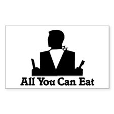 All You Can Eat Rectangle Decal