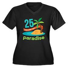 25th Anniversary Paradise Plus Size T-Shirt