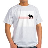 Retro Chinese Shar Pei Ash Grey T-Shirt