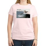 Adelie Penguins (Front) Women's Pink T-Shirt