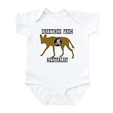 Greetings from Australia! Infant Bodysuit