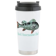 Reel Awesome Dad Fisherman Humor Travel Mug