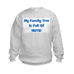 Family Tree blue Kids Sweatshirt