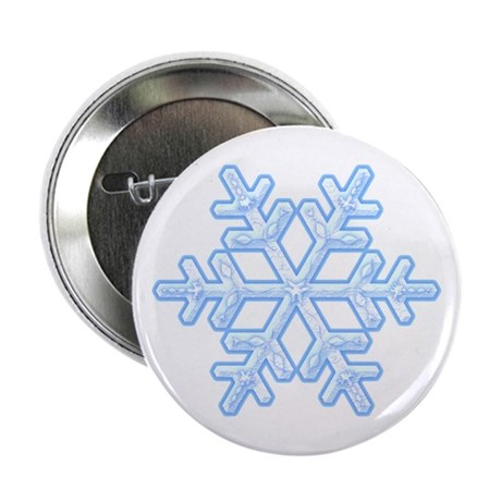 Flurry Snowflake XVIII Button