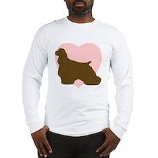 Cocker Spaniel Heart Long Sleeve T-Shirt