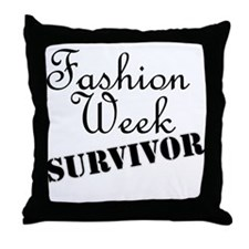 Fashion Week Survivor Throw Pillow