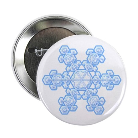 Flurry Snowflake XVII Button