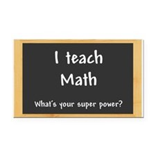I teach Math Rectangle Car Magnet