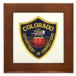 Colorado Corrections Framed Tile