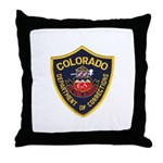 Colorado Corrections Throw Pillow