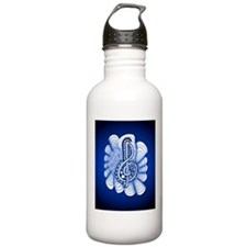Music is Art and Art is Music Water Bottle