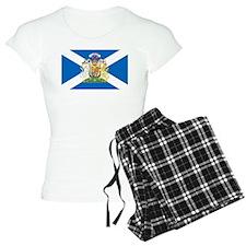 Scottish Flag with Royal Crest Pajamas