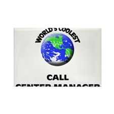 World's Coolest Call Center Manager Rectangle Magn