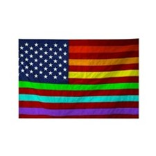 (LGBT) Gay Rainbow Pride Flag - Rectangle Magnet