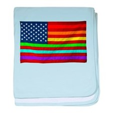 (LGBT) Gay Rainbow Pride Flag - baby blanket