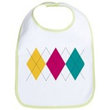 Bright Argyle Bib