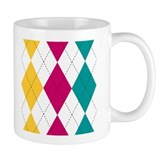 Bright Argyle Small Mug