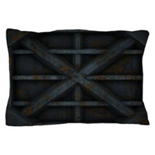 Rusty Shipping Container - black Pillow Case
