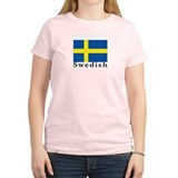 Sweden Women's Pink T-Shirt