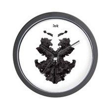 Ink blot 2 Wall Clock
