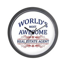 World's Most Awesome Real Estate Agent Wall Clock