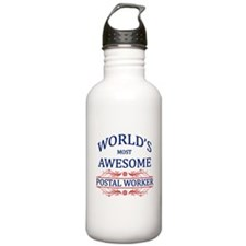 World's Most Awesome Postal Worker Water Bottle