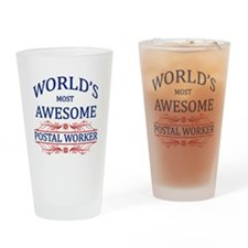 World's Most Awesome Postal Worker Drinking Glass