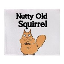 NUTTY OLD SQUIRREL Throw Blanket
